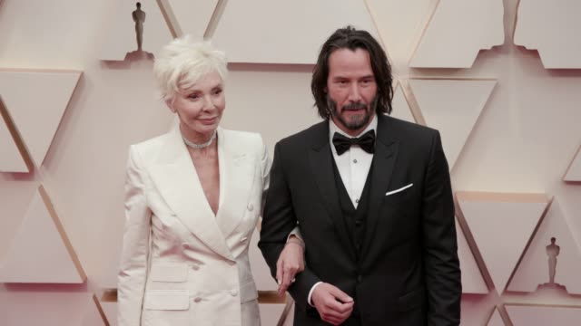 patricia taylor and keanu reeves at the 92nd annual academy awards at dolby theatre on february 09, 2020 in hollywood, california. - keanu reeves stock videos & royalty-free footage