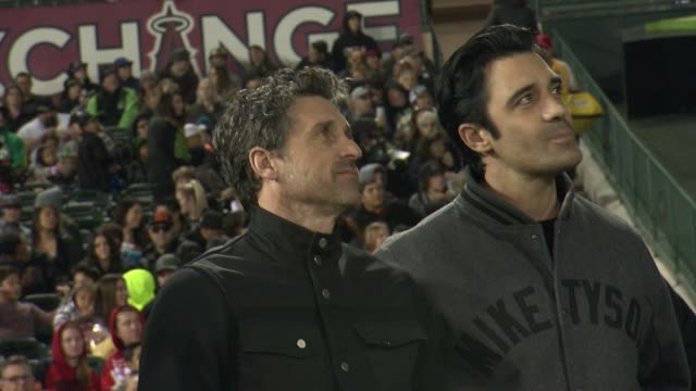 patrick dempsey and gilles marini at monster energy supercross celebrity night at angel stadium of anaheim on january 23, 2016 in anaheim, california. - angel stadium stock videos & royalty-free footage