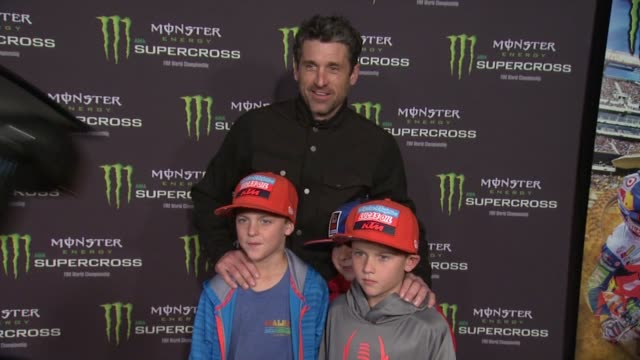 patrick dempsey at monster energy supercross celebrity night at angel stadium of anaheim on january 23, 2016 in anaheim, california. - angel stadium stock videos & royalty-free footage