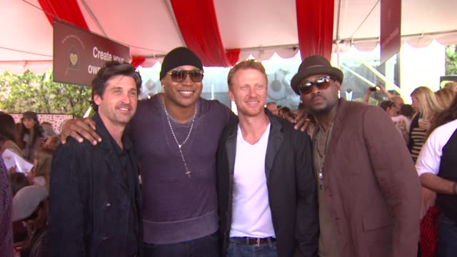patrick dempsey ll cool j kevin mckidd omar epps at the john varvatos 8th annual stuart house benefit at los angeles ca - ll cool j stock videos and b-roll footage