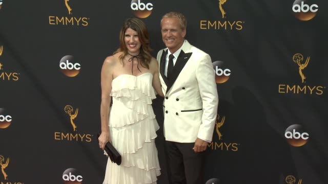 patrick fabian, mandy fabian at 68th annual primetime emmy awards - arrivals in los angeles, ca 9/18/16 - annual primetime emmy awards stock videos & royalty-free footage
