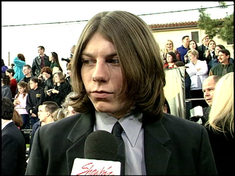 Patrick Fugit at the 2001 Screen Actors Guild SAG Awards arrivals at the Shrine Auditorium in Los Angeles California on March 11 2001