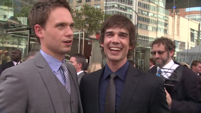 Patrick J Adams and Christopher Gorham at 2012 USA Network Upfront Event at Alice Tully Hall Lincoln Center on May 17 2012 in New York New York