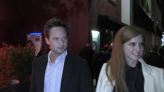 Patrick J Adams and Sarah Rafferty outside Largo in Los Angeles at Celebrity Sightings in Los Angeles on March 01 2019 in Los Angeles California