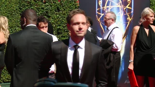 Patrick J Adams at 2014 Creative Arts Emmy Awards in Los Angeles CA