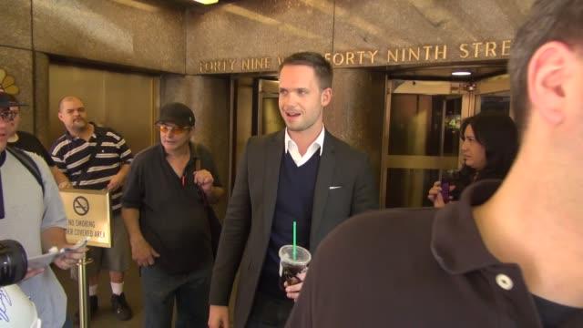 Patrick J Adams at NBC Studios in New York NY on 7/16/13