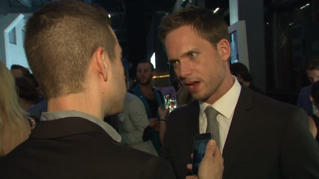 Patrick J Adams at the Suits and Mr Porter Fashion Show on 6/12/2012 in New York NY United States
