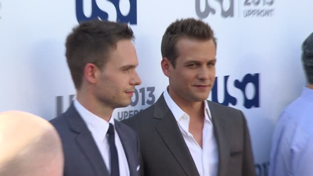 Patrick J Adams at USA Network 2013 Upfront Event at Pier 36 on May 16 2013 in New York New York