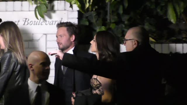 Patrick J Adams Troian Bellisario outside the Pre SAG Awards Party at Chateau Marmont in West Hollywood in Celebrity Sightings in Los Angeles