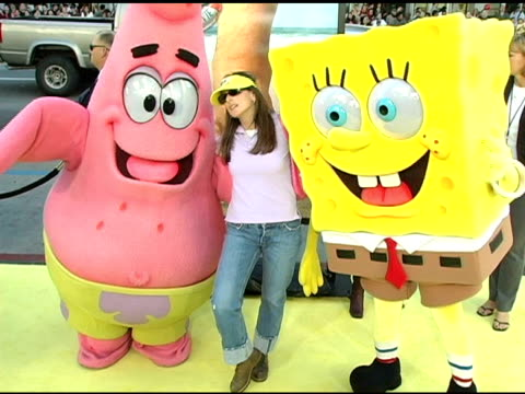 Patrick Marlee Matlin and Spongebob Squarepants at the 'The Spongebob Squarepants Movie' World Premiere at Grauman's Chinese Theatre in Hollywood...
