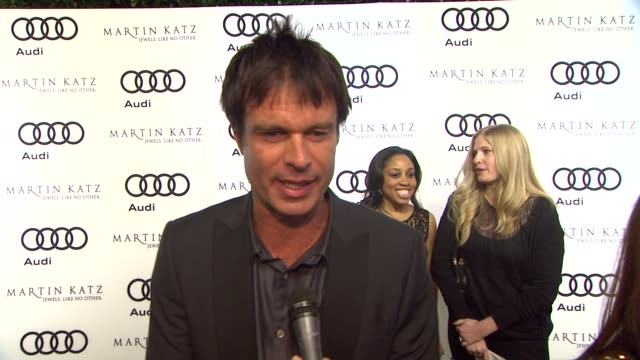 Patrick Muldoon on kicking off Golden Globe week at this party at the Audi And Martin Katz Celebrate The 2012 Golden Globe Awards in West Hollywood CA