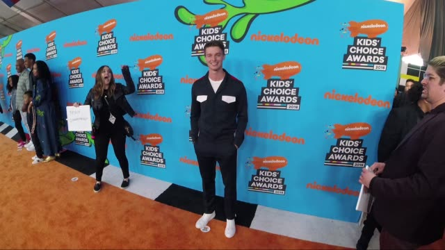 patrick schwarzenegger at nickelodeon's 2018 kids' choice awards alternative views at the forum on march 24 2018 in inglewood california - 31st annual nickelodeon kids' choice awards stock videos and b-roll footage
