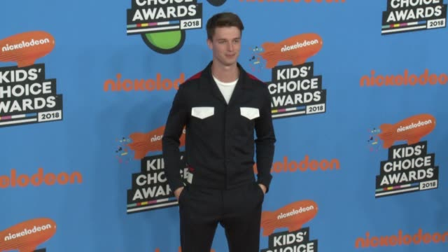 patrick schwarzenegger at the nickelodeon's 2018 kids' choice awards at the forum on march 24 2018 in inglewood california - 31st annual nickelodeon kids' choice awards stock videos and b-roll footage