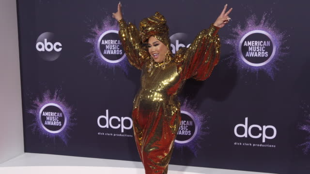 patrick starrr at the 2019 american music awards at microsoft theater on november 24 2019 in los angeles california - アメリカン・ミュージック・アワード点の映像素材/bロール