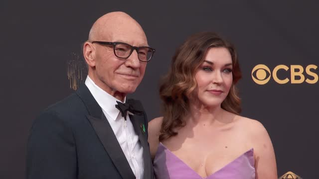 patrick stewart arrives to the 73rd annual primetime emmy awards at l.a. live on september 19, 2021 in los angeles, california. - emmy awards stock videos & royalty-free footage