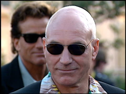patrick stewart at the 1996 mtv movie awards at disney studios in burbank california on june 8 1996 - burbank stock-videos und b-roll-filmmaterial