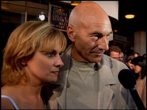 patrick stewart at the 'desperado' premiere on august 21 1995 - 1995 stock videos & royalty-free footage