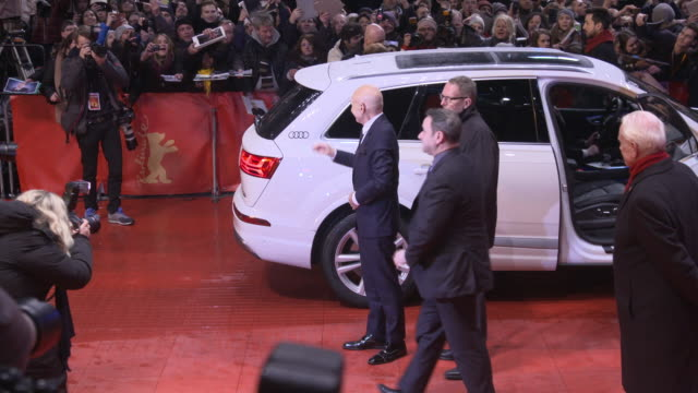 Patrick Stewart Sunny Ozell at Berlin Film Festival 'Logan' Red Carpet at Berlinale Palast on February 17 2017 in Berlin Germany