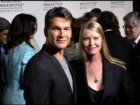 Patrick Swayze and Lisa Niemi at the Dediction of the Rodeo Drive Walk of Style Award to Herb Ritts and Mario Testino at Rodeo Drive in Beverly Hills...