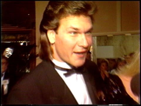 Patrick Swayze at the 1988 Golden Globe Awards at the Beverly Hilton in Beverly Hills California on January 23 1988