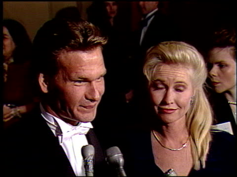 Patrick Swayze at the 1991 Golden Globe Awards at the Beverly Hilton in Beverly Hills California on January 19 1991