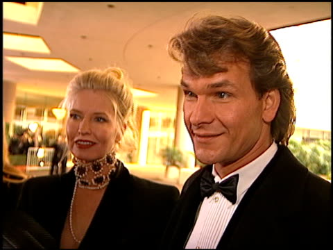 Patrick Swayze at the 1996 Golden Globe Awards at the Beverly Hilton in Beverly Hills California on January 21 1996