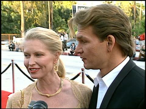 Patrick Swayze at the Blockbuster Awards at Hollywood Pantages Theater in Hollywood California on March 11 1997