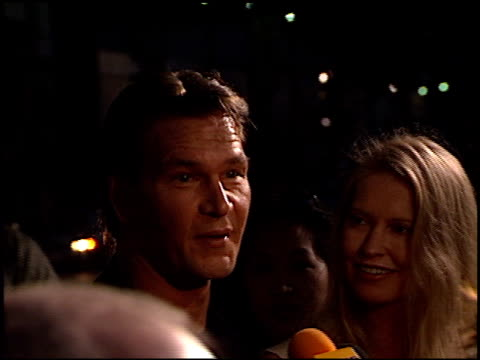 Patrick Swayze at the 'Dance With Me' Premiere at Hollywood Galaxy Theater in Hollywood California on August 13 1998