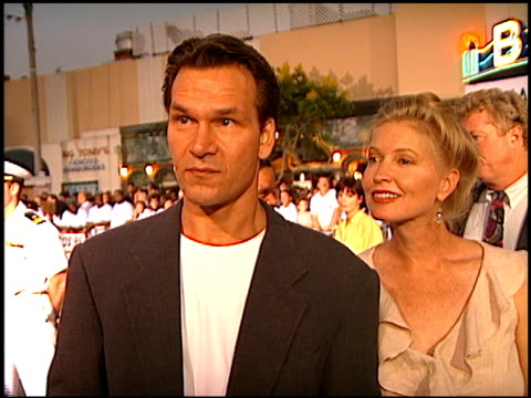 Patrick Swayze at the 'GI Jane' Premiere at the Mann Village Theatre in Westwood California on August 6 1997