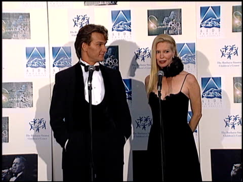 Patrick Swayze at the Sinatra's 80 Years My Way at the Shrine Auditorium in Los Angeles California on November 19 1995
