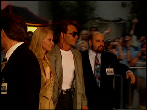 Patrick Swayze at the 'Waterworld' Premiere at Grauman's Chinese Theatre in Hollywood California on July 26 1995