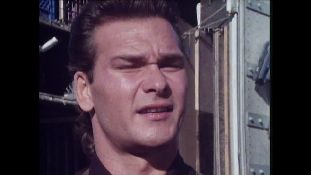 patrick swayze speaking in 1988 while filming 'next of kin' on how his life has changed since dirty dancing i don't think there's anyway you can... - handsome people stock videos & royalty-free footage
