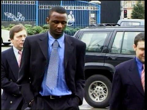vídeos de stock, filmes e b-roll de birmingham arsenal player patrick vieira arriving for disciplinary hearing - patrick vieira
