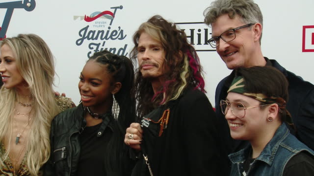 Patrick W Lawler Richard Shaw Steven Tyler Aimee Preston at Steven Tyler's 2nd Annual GRAMMY Awards Viewing Party to Benefit Janie's Fund in Los...