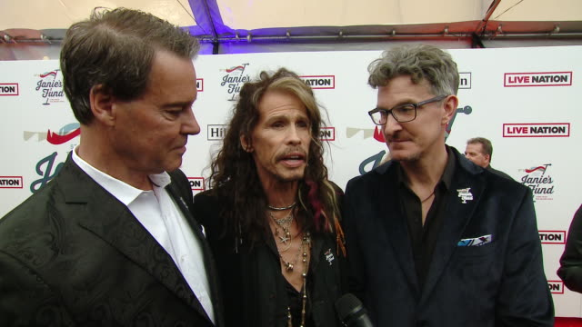 INTERVIEW Patrick W Lawler Richard Shaw Steven Tyler on the event at Steven Tyler's 2nd Annual GRAMMY Awards Viewing Party to Benefit Janie's Fund in...