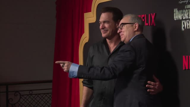 "patrick warburton and barry sonnenfeld at netflix premieres ""a series of unfortunate events"" season 2 at metrograph on march 29, 2018 in new york... - patrick warburton stock videos & royalty-free footage"