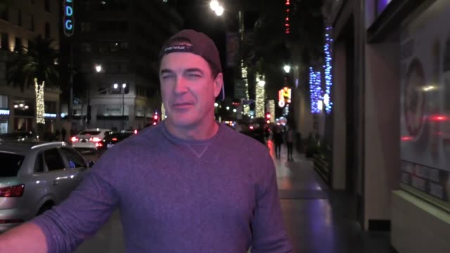 patrick warburton and cathy jennings celebrate their 27th anniversary outside the frolic room in los angeles at celebrity sightings in los angeles on... - patrick warburton stock videos & royalty-free footage