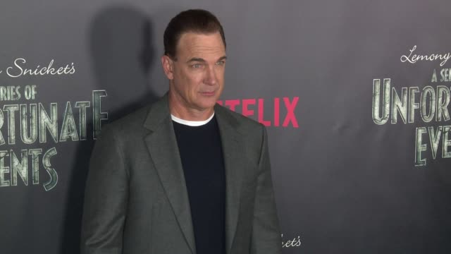 "patrick warburton at lemony snicket's ""a series of unfortunate events"" world premiere presented by netflix at amc lincoln square theater on january... - patrick warburton stock videos & royalty-free footage"