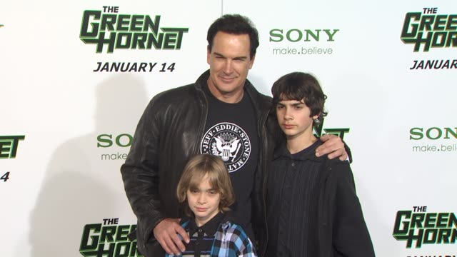 patrick warburton at the 'the green hornet' premiere at hollywood ca. - patrick warburton stock videos & royalty-free footage