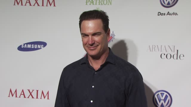 patrick warburton at the the maxim party at miami beach fl. - patrick warburton stock videos & royalty-free footage