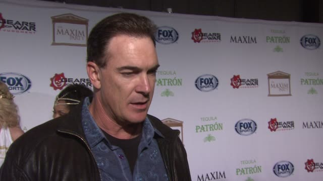 patrick warburton on the event at patron tequila presents the maxim party with gears of war: judgment for xbox 360, fox sports & starter on 2/3/13 in... - patrick warburton stock videos & royalty-free footage
