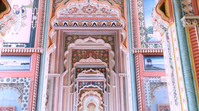 patrika gate. the ninth gate of jaipur, jaipur, rajasthan, india - multi coloured stock videos & royalty-free footage