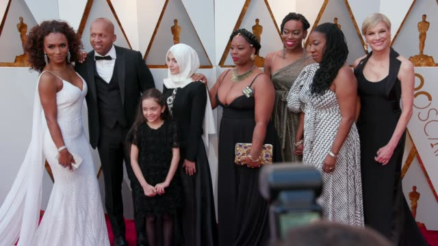 Patrisse Cullors Janet Mock Bana Alabed Bryan Stevenson Tarana Burke and Kaia Burke at the 90th Academy Awards Arrivals at Dolby Theatre on March 04...