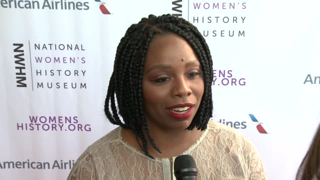patrisse cullors on being honored, on what it would mean for women to have a nwhm on the national mall in washington dc, on her work with black lives... - interview raw footage stock videos & royalty-free footage