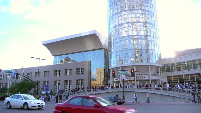 Patrons of the first annual Comic Con is Salt Lake City Utah wait outside to enter the convention