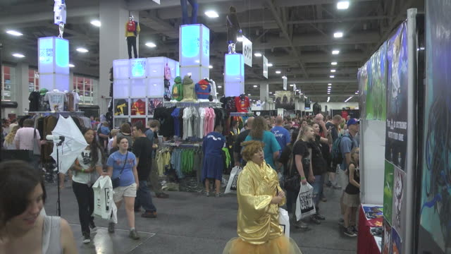 Patrons walking around at the first annual Comic Con is Salt Lake City Utah