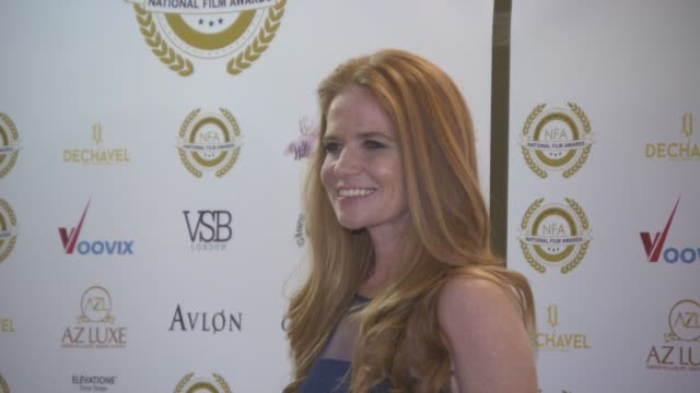 patsy palmer at the 4th annual national film awards at porchester hall on march 28, 2018 in london, england. - ポーチェスター点の映像素材/bロール