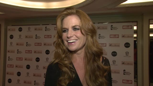 patsy palmer on her memories of amy winehouse, her music, the foundation at amy winehouse foundation ball arrivals at dorchester hotel on november... - dorchester hotel stock videos & royalty-free footage