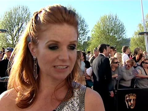 patsy palmer on june browns talent on dawn french and jennifer saunders getting an award at the tv bafta awards at london - dawn french stock videos & royalty-free footage
