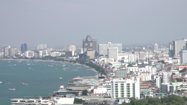 パタヤ湾 - パタヤ点の映像素材/bロール